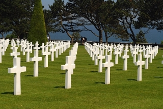 Graves Overlooking Omaha Beach