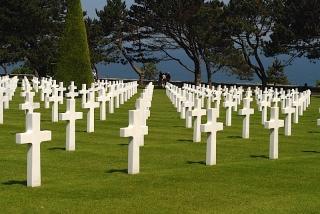 Graves Overlooking Omaha Beach