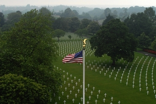 View of American Cemetery from Chapel Tower