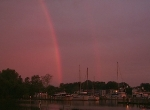 Evening rainbow on Choptank River