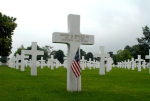 David Briggs grave in Normandy